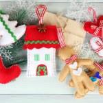 Handmade Christmas decorations — Stock Photo #61092059