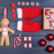 Collection of Christmas objects — Stock Photo #61095219