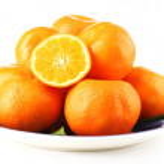Tasty mandarins on plate — Stock Photo #61097049
