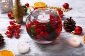 Floating candles in water — Stock Photo