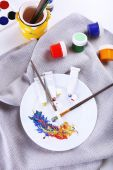 Mixing colorful paints — Stock Photo