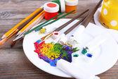 Mixing colorful paints — Foto de Stock