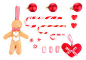 Coleção de objetos de natal — Foto Stock