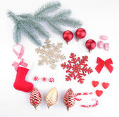 Collection of Christmas objects — Stock Photo