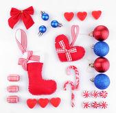 Collectie van kerstmis-objecten — Stockfoto