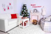 красивый рождественский интерьер — Стоковое фото
