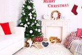 Beautiful Christmas interior — Foto de Stock