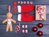Kolekce objektů vánoc — Stock fotografie