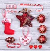 Raccolta di oggetti di Natale — Foto Stock