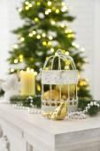 Decorazioni di natale con candele — Foto Stock