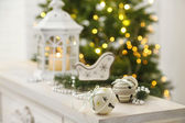 Christmas decorations with lantern — Stockfoto