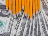 Education costs background — Stock Photo