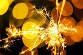 Beautiful shiny sparkler — Photo