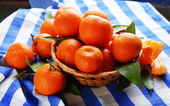 Verse rijpe mandarijnen — Stockfoto