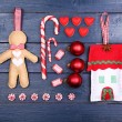 Collection of Christmas objects — Stock Photo #61129315