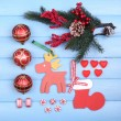 Collection of Christmas objects — Stock Photo #61129325