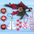 Collection of Christmas objects — Stock Photo #61129331