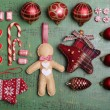 Collection of Christmas objects — Stock Photo #61129345