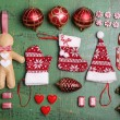 Collection of Christmas objects — Stock Photo #61129355