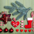 Collection of Christmas objects — Stock Photo #61129367