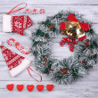 Collection of Christmas objects — Stock Photo #61129369