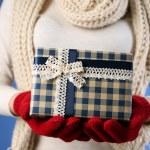 Gift box in female hand — Stock Photo #61129673