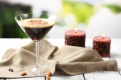 Espresso cocktail on table — Stock Photo