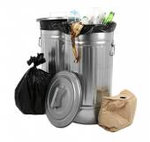 Recycling bins isolated on white — Stock Photo