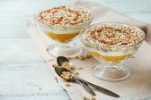 Tasty dessert with oat flakes — Foto de Stock