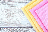 Colorful napkins on table — Стоковое фото
