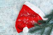 Santa red hat — Stock Photo