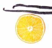Dried orange with vanilla — Stock Photo