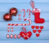 Colección de objetos de navidad — Foto de Stock