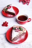 Tasty homemade pie — Stock Photo
