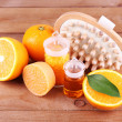 Orange and essential oil — Stock Photo #61210883