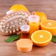 Orange and essential oil — Stock Photo #61210909
