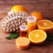 Orange and essential oil — Stock Photo #61210911