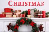 Decorations with Merry Christmas inscription — Stock Photo