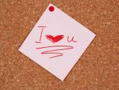 Paper sheet with declaration of love — Stock Photo