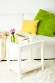 Apartment interior in white color — Stock Photo