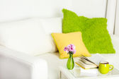Apartment interior in white color — Stock Photo