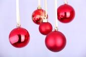 Rote Weihnachtskugel — Stockfoto