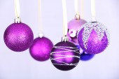 Purple Christmas toys — Stock Photo