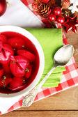Traditional polish red borscht — Foto de Stock