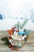 Bela composição de natal — Fotografia Stock