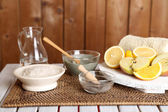 Homemade facial masks with natural ingredients — Stockfoto