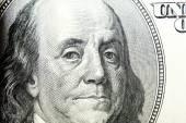 Dollar face close-up — Stock Photo