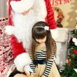 Santa Claus with little girl — Stock Photo #61228883