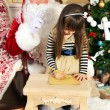 Santa Claus with little girl — Stock Photo #61228899