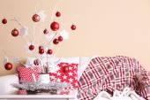 Cozy Christmas home interior — Foto Stock